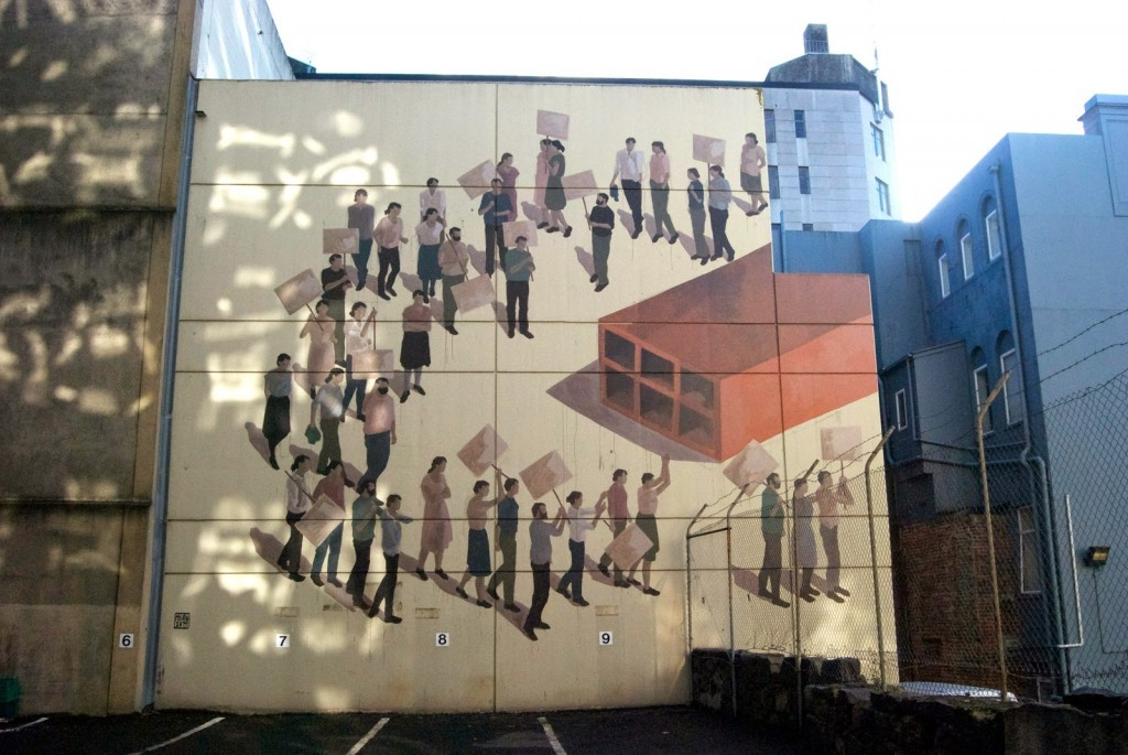 Hyuro unveils two new murals in Dunedin, New Zealand
