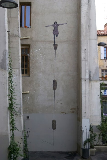 Hyuro New Street Art For Bienal de Arte de Perpignan 2013 – Perpignan, France