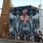 Borondo creates a new mural for Arturb in Lagos, Portugal