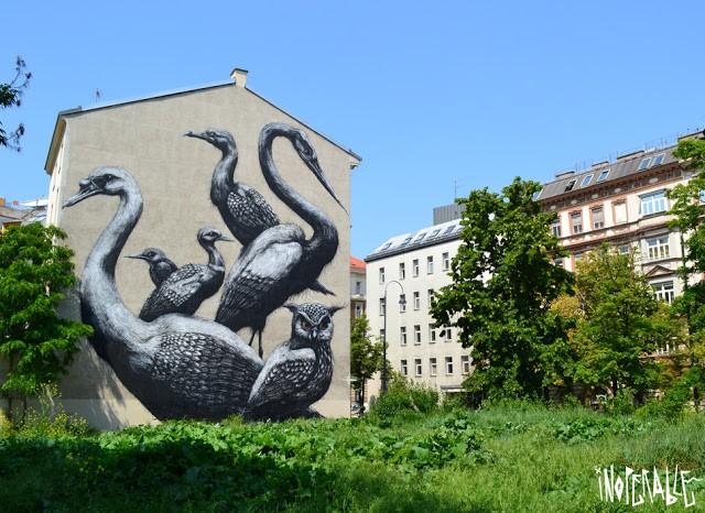ROA New Mural In Vienna, Austria