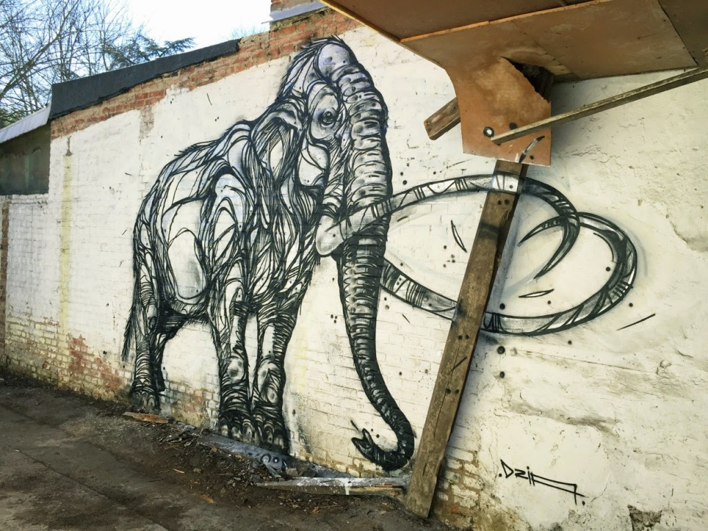 DZIA paints a new mural in Leuven, Belgium