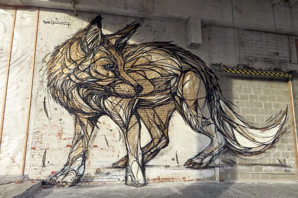 DZIA paints a massive mural in Vilvoorde, Belgium