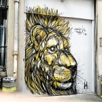 """Cecil The Lion"", a tribute by DZIA in Glasgow, Scotland"