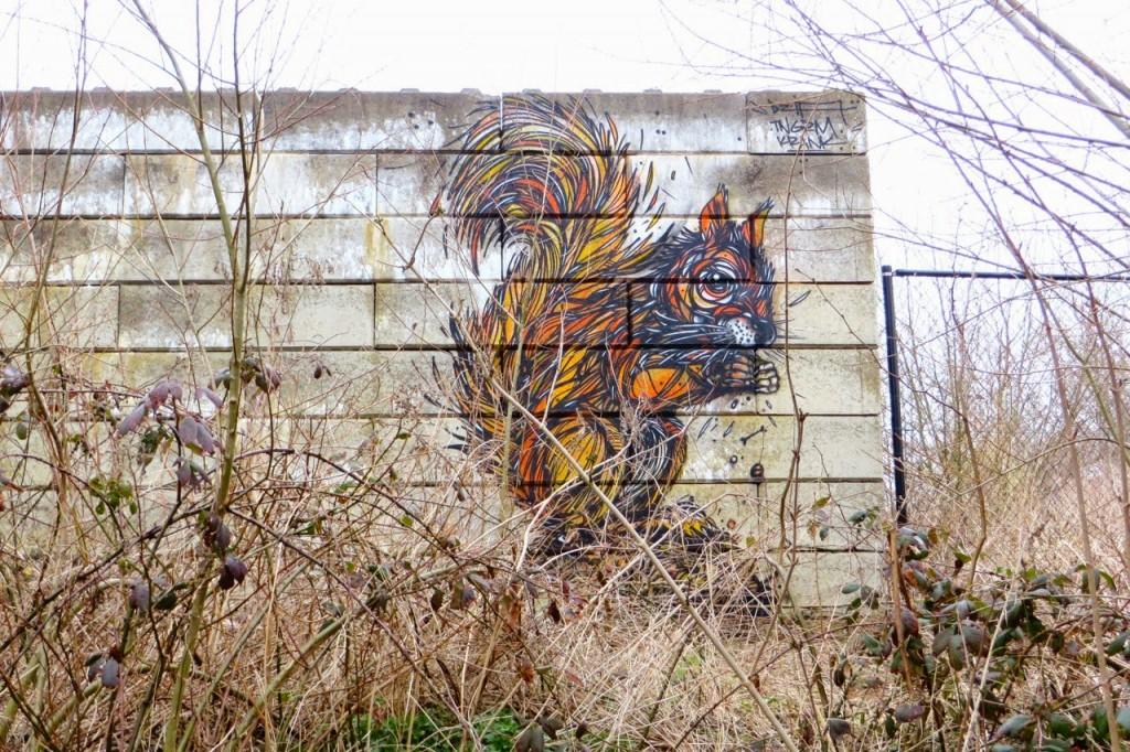 DZIA paints a new piece in Mechelen, Belgium