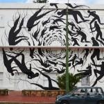 """David De La Mano """"Vortex"""" New Mural – Punta del Este, Uruguay"""