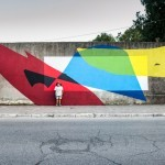 Elian creates a new mural in Gaeta for Memorie Urbane '15