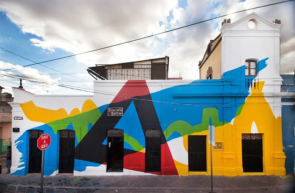 Elian creates a new mural for Board Dripper in Queretaro, Mexico