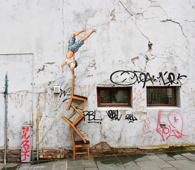 Ernest Zacharevic New Installation For Nuart '13 In Stavanger, Norway