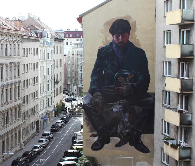"Evoca1 unveils ""Imperishable Relics"", a new mural in Vienna, Austria"