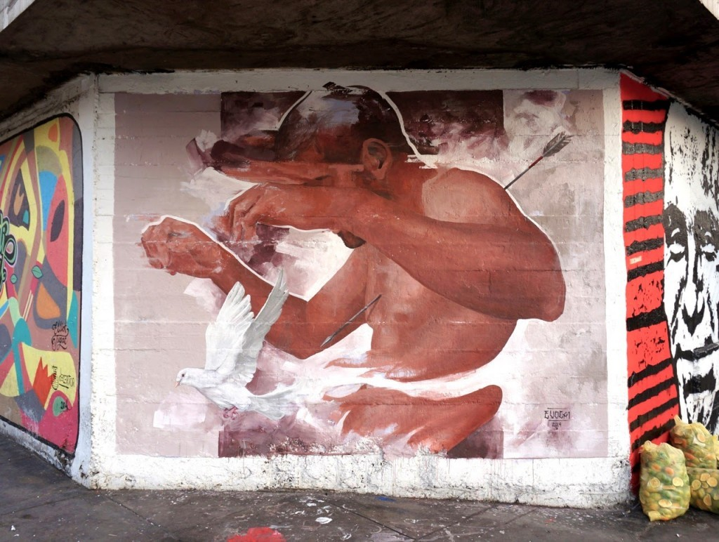 Evoca1 New Mural For Latido Americano 2014 – Lima, Peru