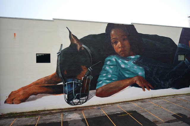 Evoca1 creates a new mural in Saint Petersburg, Florida