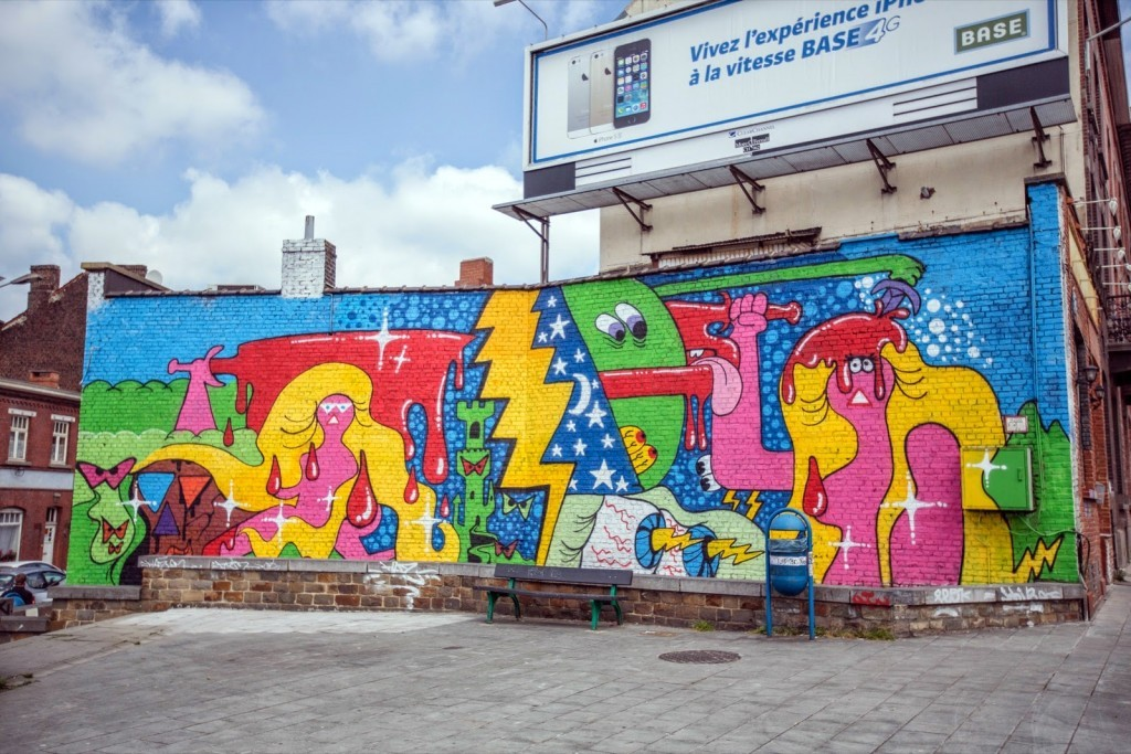 Todd James New Mural For Asphalte Festival – Charleroi, Belgium