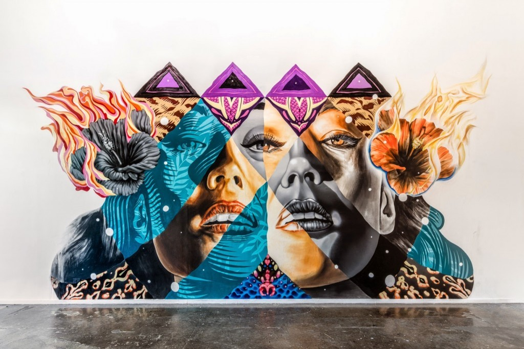 Kamea Hadar and Tristan Eaton unveil a new indoor collaboration in Los Angeles, USA