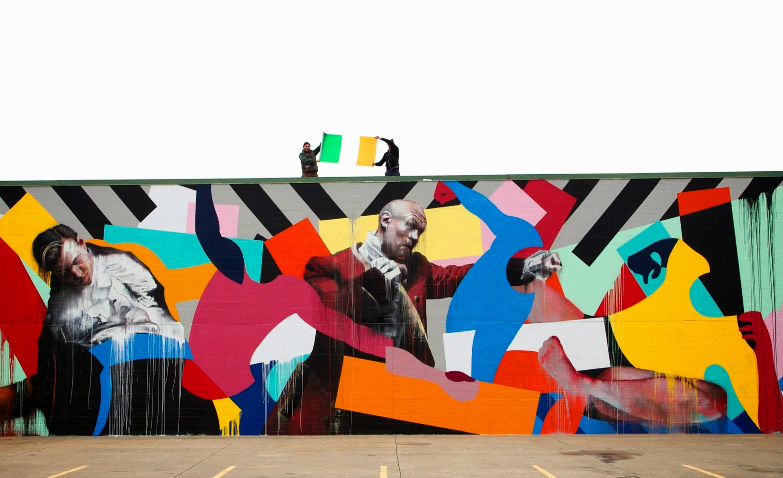 Conor Harrington and Maser collaborate on a new mural in Fort Smith, USA