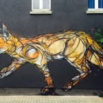 "DZIA paints ""Catflow"", its newest mural on the streets of Zolder in Belgium"