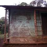 Vhils New Mural in Araçaí Village, Brazil