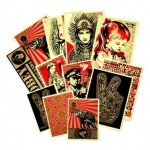 Obey Giant Shepard Fairey Gold Sticker Packs