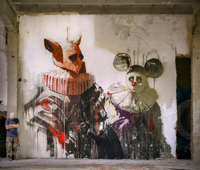 Sepe reveals a new secret mural he recently painted in Warsaw