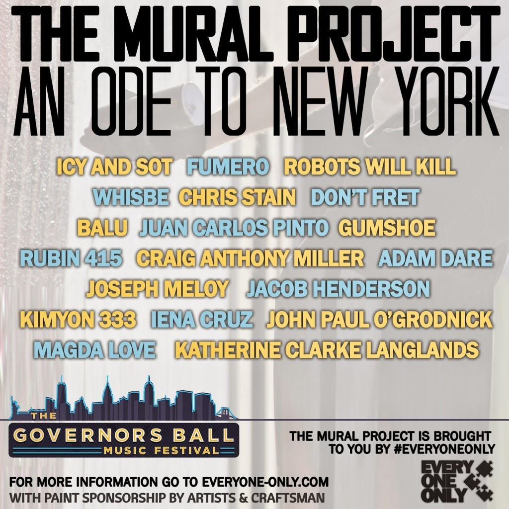 Preview – The Mural project – Governors Ball Music Festival – Randall's Island, NYC