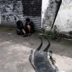 2501 New Street Pieces with Herbert Baglione, Marina Zumi – Sao Paulo, Brazil