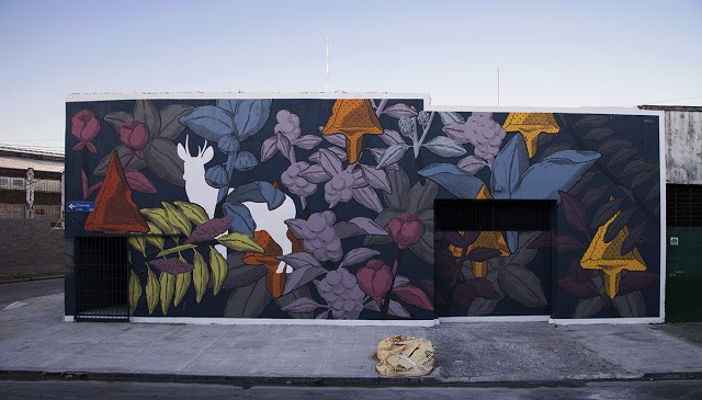 """""""Huemul"""", a new mural by Pastel in Buenos Aires, Argentina"""