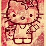 Shepard Fairey 'Hello Kitty' Print Pink Version