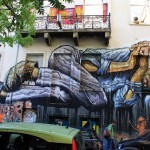 """No Land For The Poor"", a new mural by WD in Athens, Greece"