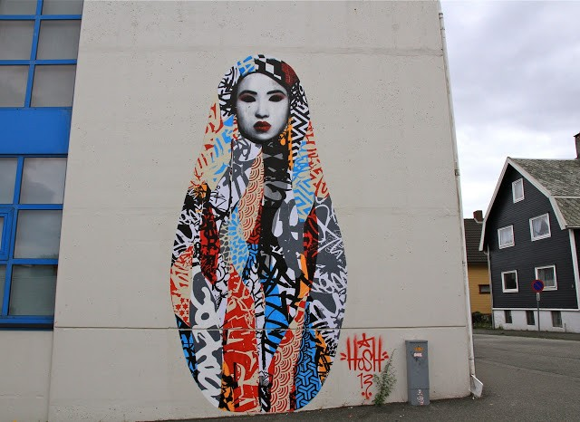 Hush New Mural For Nuart In Stavanger, Norway