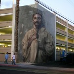 "Borondo creates ""Corner"", an anamorphic mural in Las Vegas for JustKids and Life Is Beautiful"