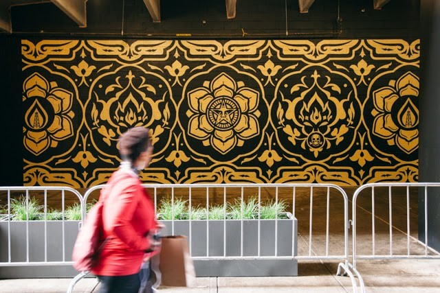 """Pattern Of Destruction"" a new piece by Shepard Fairey in Detroit"