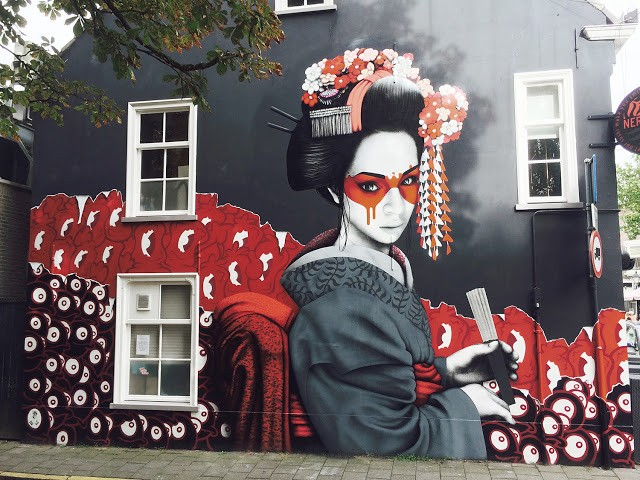 """Kokesh"", a collaborative mural by Fin DAC, Edo Rath & Nol Art in Breda, Netherlands"