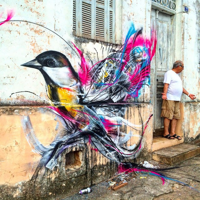 L7M creates a new street piece in Sao Paulo, Brazil