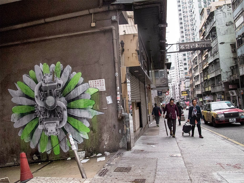 Ludo brings a new batch of pieces to the streets of Hong-Kong in China