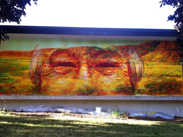 Gaia New Murals In Sheboygan, USA