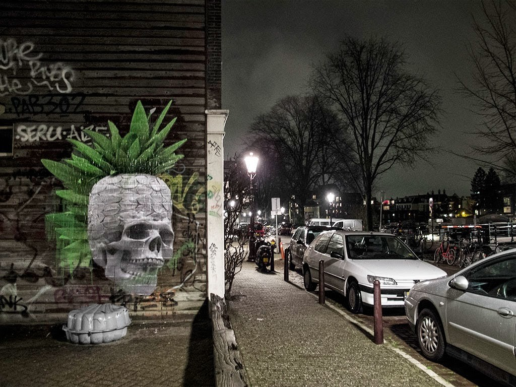 Ludo brings a series of new pieces to the streets of Amsterdam in Netherlands