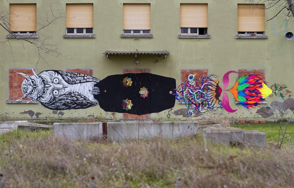 Basik x Zamoc x Gola New Mural – Rimini, Italy