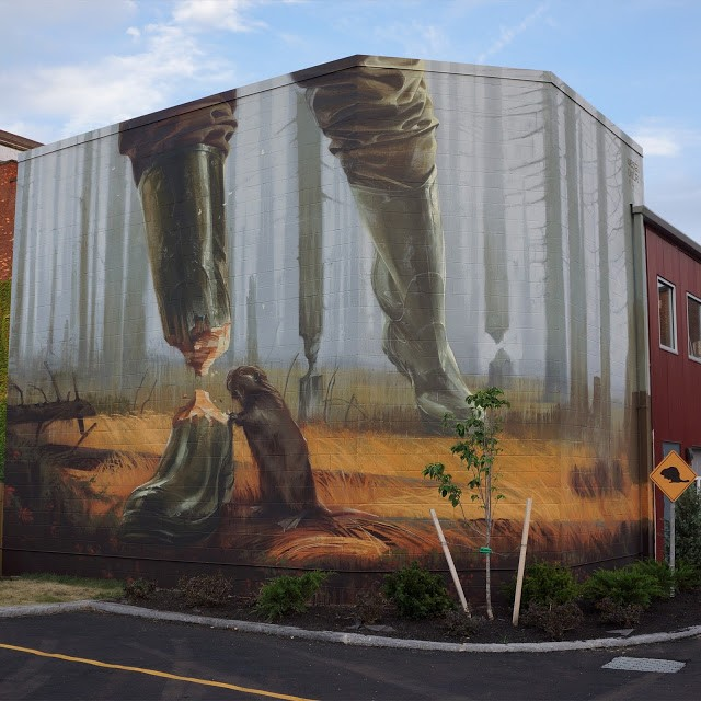 Wes21 and Onur collaborate on a new piece in Rochester, USA
