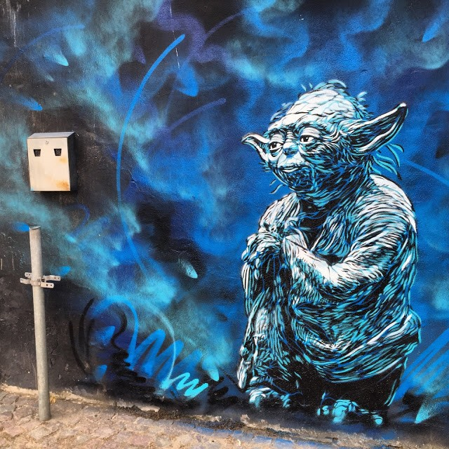 A series of stencils by C215 in Horsen, Denmark