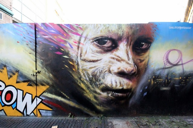 "Dale Grimshaw ""Kapow"" New Mural – London, UK"