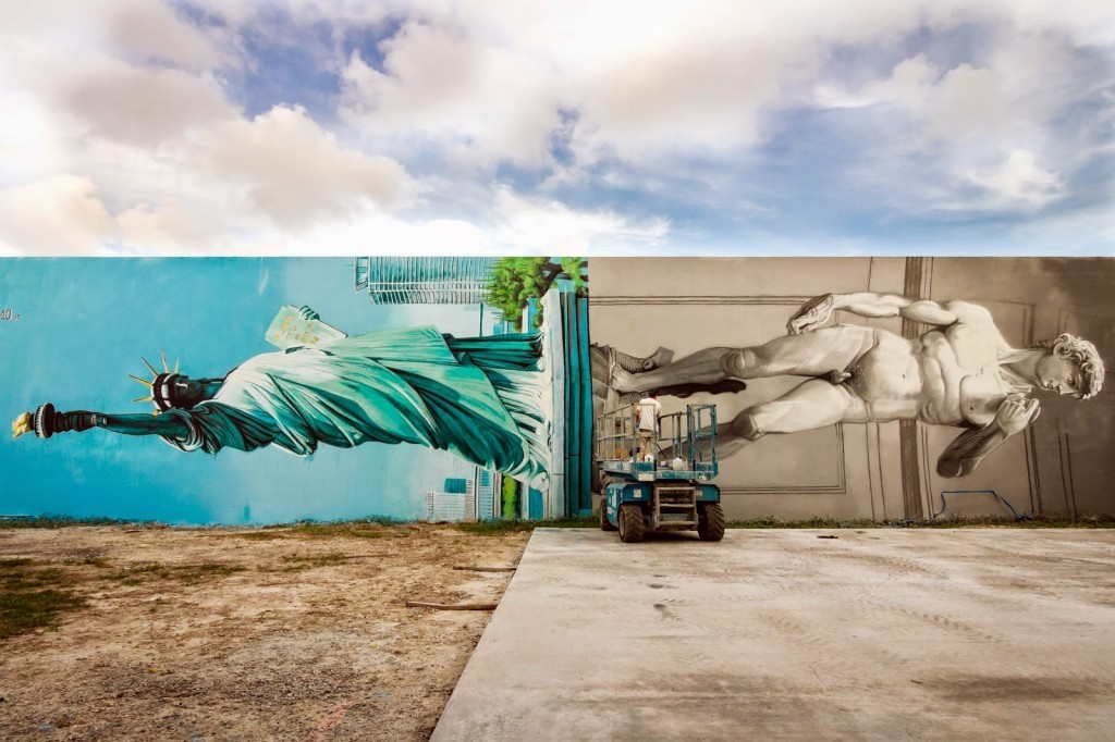 Ozmo paints an impressive new piece in Wynwood, Miami