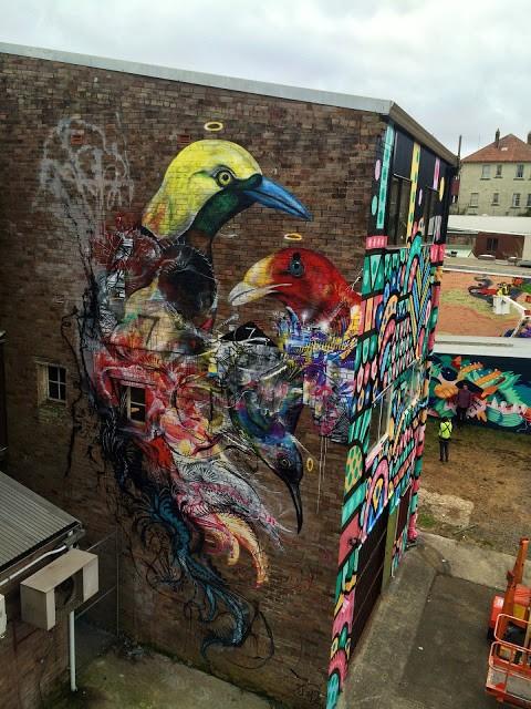 L7M creates a new mural in Katoomba, Australia