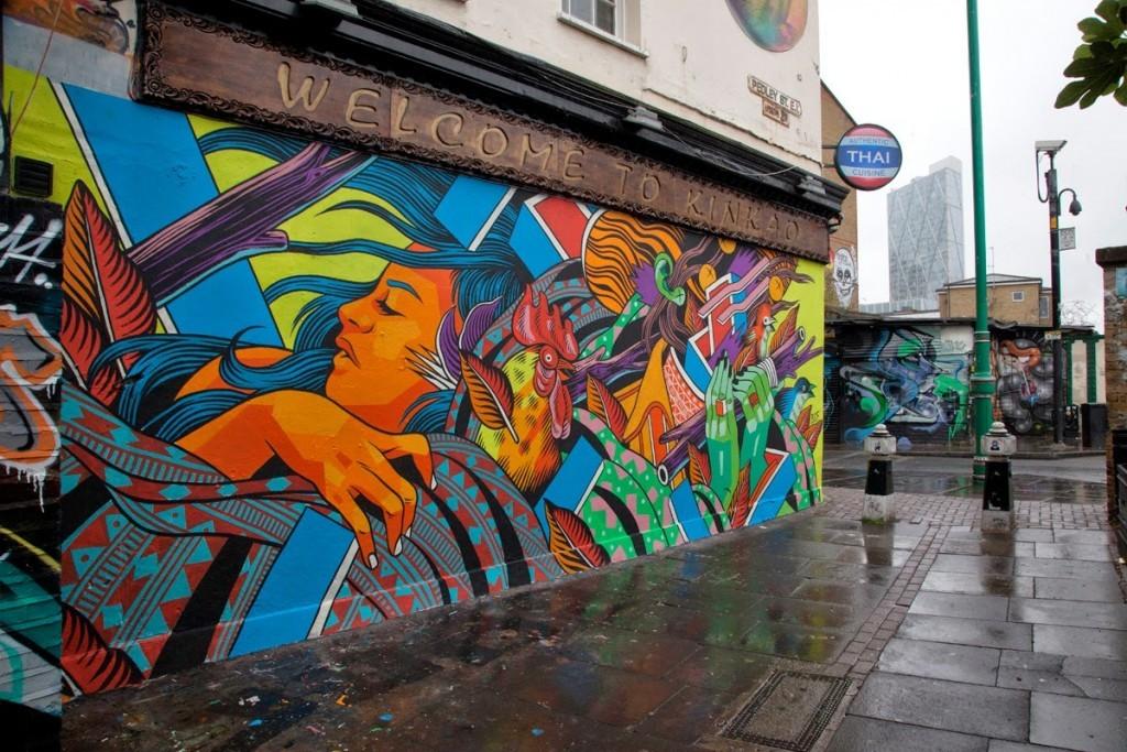 Bicicleta Sem Freio New Mural – East London, UK