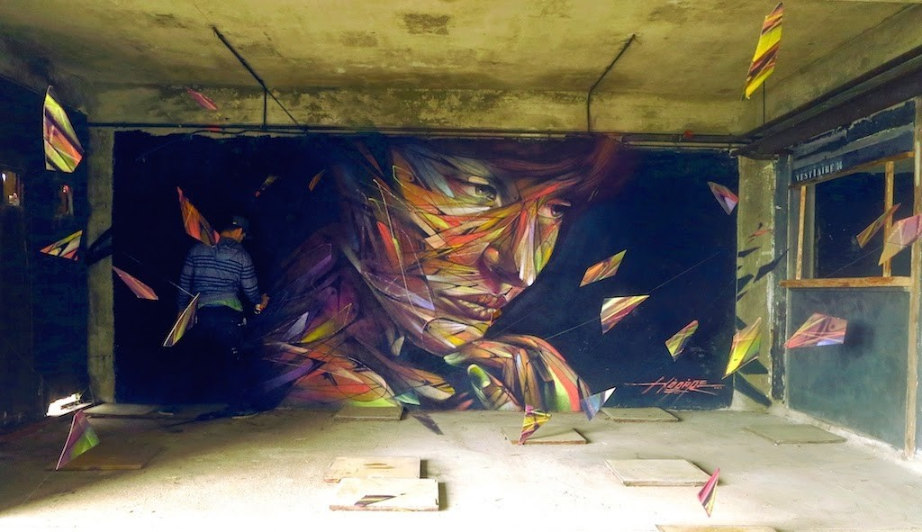 "Hopare ""Music For The Eyes"", a new installation in Paris, France"