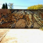 DZIA paints a new mural in Niel, Belgium