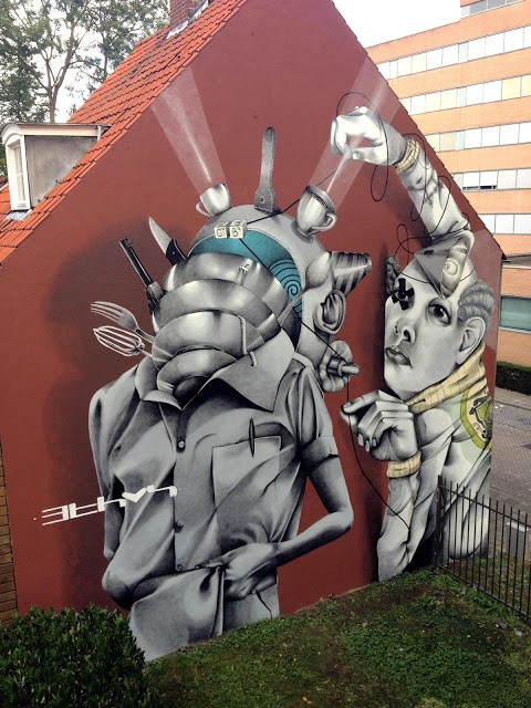 Claudio Ethos creates a new mural in Heerlen, Netherlands