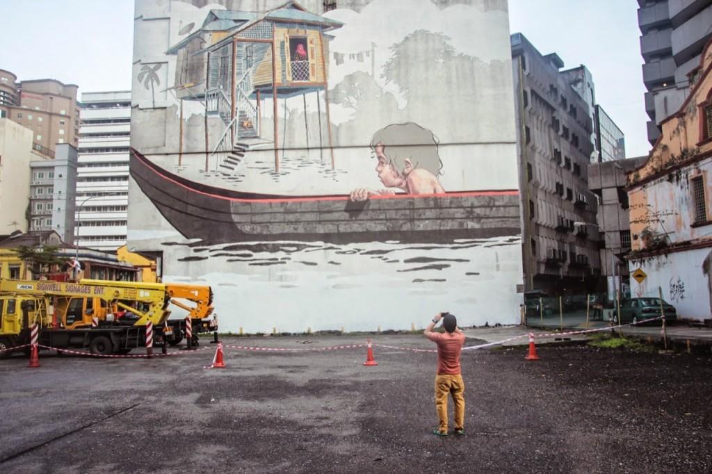 Ernest Zacharevic New Mural – Kuala Lumpur, Malaysia
