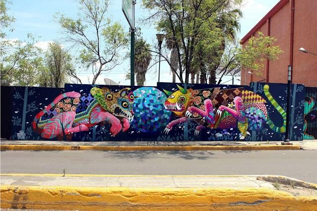 Gleo & UnoNueve collaborate on a new mural in Mexico City