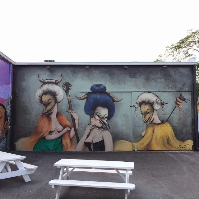Miss Van New Mural For Art Basel '13 – Wynwood Walls, Miami