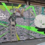 "Nathan Bowen ""Green Lantern"" New Mural In London"