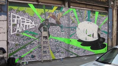 "Nathan Bowen ""Green Lantern"" New Mural In London"
